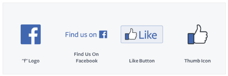 Examples of Facebook's brand and logo variations