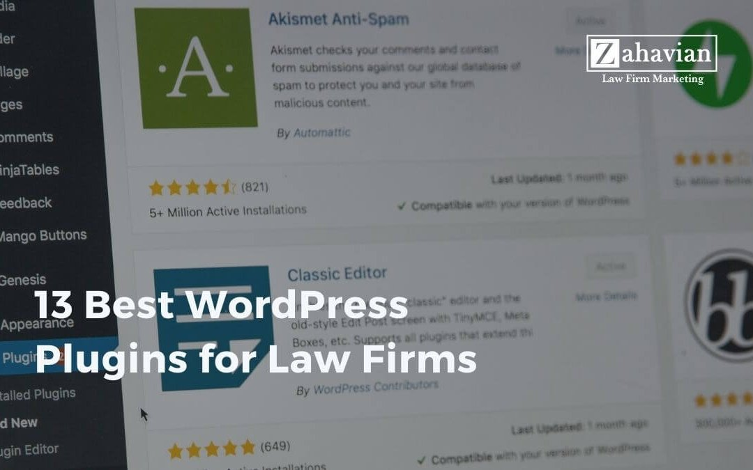 The 13 Best WordPress Plugins for Law Firms